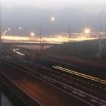 Autopista por la noche