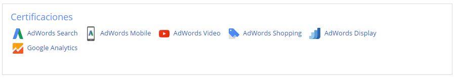 Certificaciones Google 2016