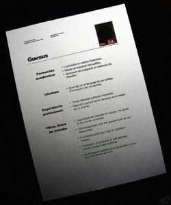La estructura del currículum vitae